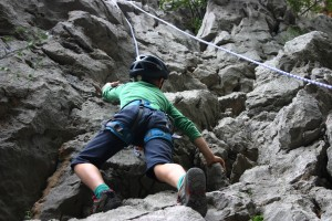 Rock climbing in National Park Paklenica